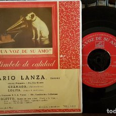 Discos de vinilo: MARIO LANZA - GRANADA - LOLITA. Lote 213654211