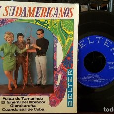 Discos de vinilo: LOS 3 SUDAMERICANOS - PULPA DE TAMARINDO - EL FUNERAL DEL LABRADOR. Lote 213654531