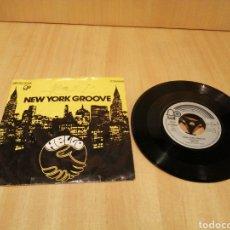Discos de vinilo: HELLO. NEW YORK GROOVE. LITTLE MISS MISTERY.. Lote 213655997