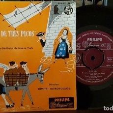 Discos de vinilo: MANUEL DE FALLA - EL SOMBRERO DE TRES PICOS - SINFONICA DE NUEVA YORK. Lote 213658067