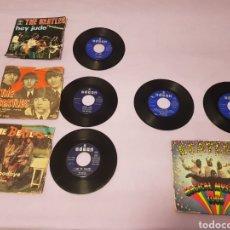 Discos de vinilo: 4 SINGLES BEATLES LEER DESCRIPCIÓN. Lote 213662750