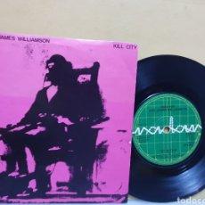 Discos de vinilo: IGGY POP & JAMES WILLIAMSON. KILL CITY. SINGLE 1978. EDICION INGLESA.. Lote 213664670