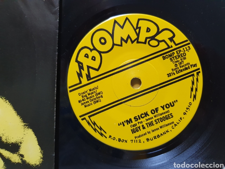 Discos de vinilo: IGGY AND THE STOOGES. IM SICK OF YOU. BOMP RECORDS. SINGLE 1977. - Foto 4 - 213665178