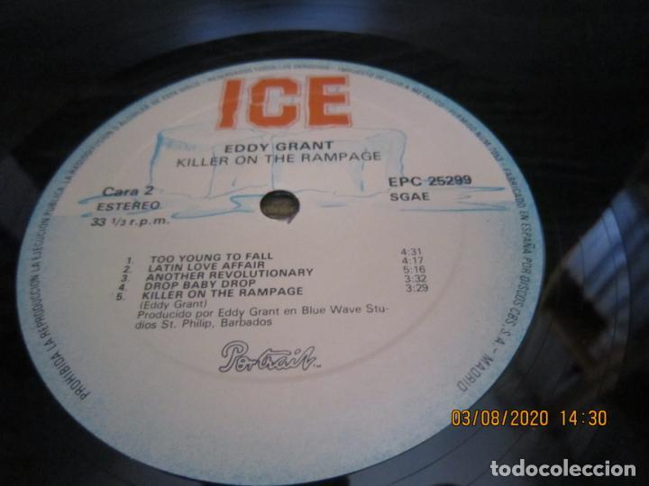 Discos de vinilo: EDDY GRANT - KILLER ON THE RAMPAGE LP - ORIGINAL ESPAÑOL - ICE 1982 CON ENCARTE ORIGINAL - Foto 14 - 269262833