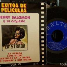 Discos de vinilo: HENRY SALOMON Y SU ORQUESTA LA STRADA ÉXITOS DE PELÍCULAS. Lote 213670720