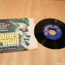 Disques de vinyle: JAMES BROWN. IT'S A MAN'S... I'VE GOT TO CHANGE.. Lote 213675552