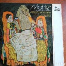 Discos de vinilo: DOBLE LP MAHLER SYMPHONY NO 6 IN A MINOR JASCHA HORENSTEIN REMINISCES TO ALAN BLYTH. Lote 213683742