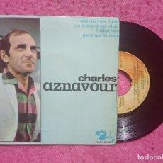 Discos de vinilo: EP CHARLES AZNAVOUR - PARIS AU MOIS D'AOUT +3 - SBGE 83 210 - SPAIN PRESS (VG++/VG). Lote 213698641