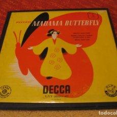 Discos de vinilo: MADAMA BUTTERFLY CAJA 3 LPS PUCCINI DECCA MONOFÓNICO ORIGINAL ESPAÑA 1951 + LIBRETO. Lote 213712187