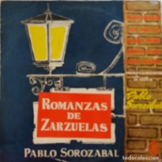 Discos de vinilo: PABLO SOROZABAL. ROMANAS DE ZARZUELA. P. LORENGAR. KRAUS. LEDA BARCLAY. R. CESARI.P.SOROZABAL. LP. Lote 213715330