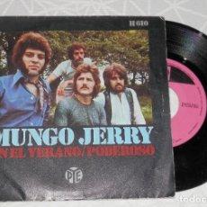 Discos de vinilo: DISCO SINGLE VINILLO DE MUNGO JERRY. Lote 213731700