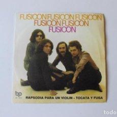 Discos de vinilo: FUSIOON, SINGLE RAPSODIA PARA UN VIOLIN / TOCATAY FUGA 1973, BP. Lote 213734928