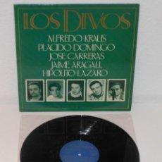 Discos de vinilo: LOS DIVOS 1989 SPAIN LP OPERA PLACIDO DOMINGO ALFREDO KRAUS JOSE CARRERAS. Lote 213735658