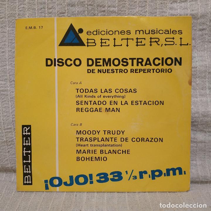 DISCO DEMOSTRACION DE NUESTRO REPERTORIO - EP BELTER 1970 - RARO, MUY DIFICIL Y EN BUEN ESTADO (Música - Discos de Vinilo - EPs - Grupos Españoles de los 70 y 80)