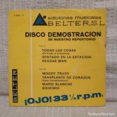 Discos de vinilo: DISCO DEMOSTRACION DE NUESTRO REPERTORIO - EP BELTER 1970 - RARO, MUY DIFICIL Y EN BUEN ESTADO. Lote 213744283