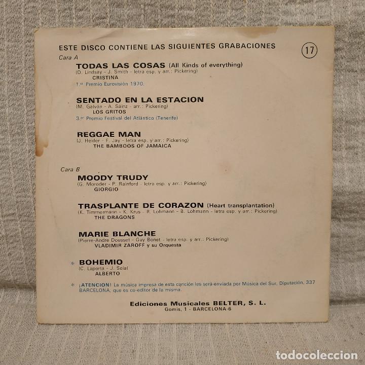 Discos de vinilo: DISCO DEMOSTRACION DE NUESTRO REPERTORIO - EP BELTER 1970 - RARO, MUY DIFICIL Y EN BUEN ESTADO - Foto 2 - 213744283