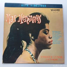 Discos de vinilo: LP ENRIQUE LYNCH Y SU CONJUNTO - MÁS MERENGUES (VENEZUELA - VENEVOX - 1963) TOP COPY NEAR MINT. Lote 213746458