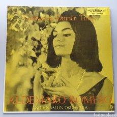 Discos de vinilo: LP ALDEMARO ROMERO & HIS SALON ORCHESTRA - CARACAS AT DINNER TIME (VENEZUELA - CYMBAL - 1959) NUEVO!. Lote 213750791