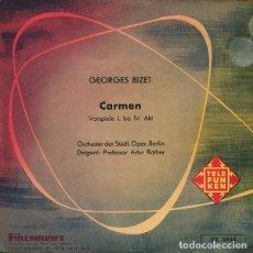 "Discos de vinilo: 7"" BIZET - ORCHESTER DER STÄDT. OPER, BERLIN - ARTUR ROTHER – CARMEN - EP - TELEFUNKEN UX 4534 Ç. Lote 213750868"