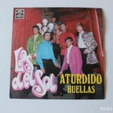 Discos de vinilo: LOS DEL SOL, SINGLE, ATURDIDO, HUELLAS, 1969. Lote 213756971