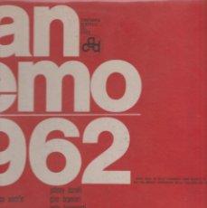Discos de vinilo: LP FESTIVAL DI SANREMO SANREMO 1962 CGD ITALY COVER COSTATA APERTA COVER USED VINILE BUONO. Lote 213764933