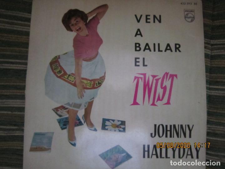 Discos de vinilo: JOHNNY HALLYDAY - VEN A BAILAR EL TWIST E.P. VINILO AMARILLO ORIGINAL ESPAÑOLA 1961 - DIFICIL - Foto 2 - 213777801