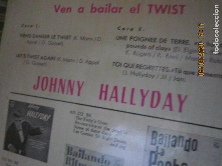 Discos de vinilo: JOHNNY HALLYDAY - VEN A BAILAR EL TWIST E.P. VINILO AMARILLO ORIGINAL ESPAÑOLA 1961 - DIFICIL - Foto 3 - 213777801