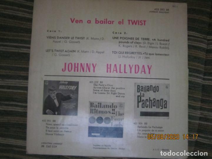 Discos de vinilo: JOHNNY HALLYDAY - VEN A BAILAR EL TWIST E.P. VINILO AMARILLO ORIGINAL ESPAÑOLA 1961 - DIFICIL - Foto 4 - 213777801
