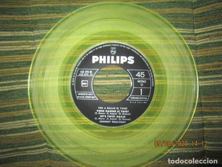 Discos de vinilo: JOHNNY HALLYDAY - VEN A BAILAR EL TWIST E.P. VINILO AMARILLO ORIGINAL ESPAÑOLA 1961 - DIFICIL - Foto 5 - 213777801