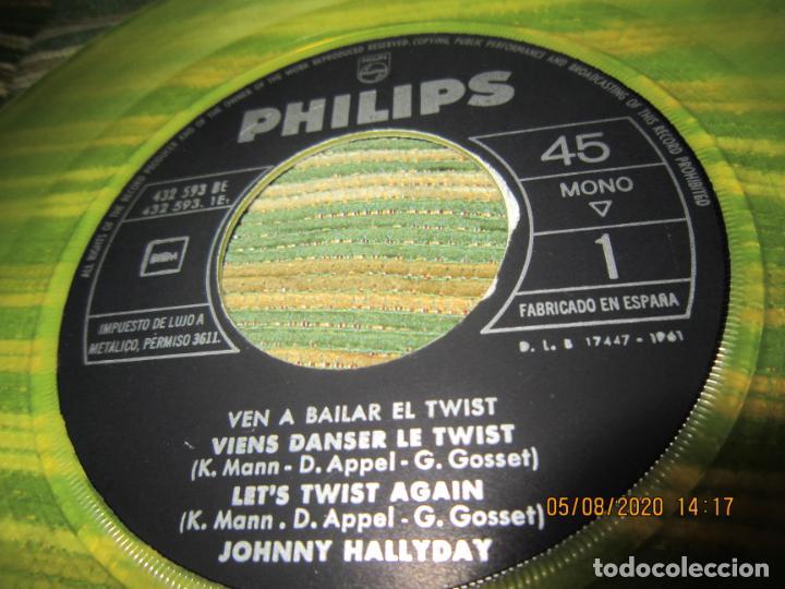 Discos de vinilo: JOHNNY HALLYDAY - VEN A BAILAR EL TWIST E.P. VINILO AMARILLO ORIGINAL ESPAÑOLA 1961 - DIFICIL - Foto 7 - 213777801