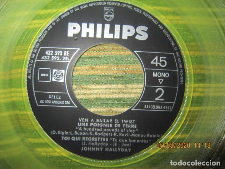 Discos de vinilo: JOHNNY HALLYDAY - VEN A BAILAR EL TWIST E.P. VINILO AMARILLO ORIGINAL ESPAÑOLA 1961 - DIFICIL - Foto 9 - 213777801