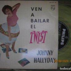 Discos de vinilo: JOHNNY HALLYDAY - VEN A BAILAR EL TWIST E.P. VINILO AMARILLO ORIGINAL ESPAÑOLA 1961 - DIFICIL. Lote 213777801