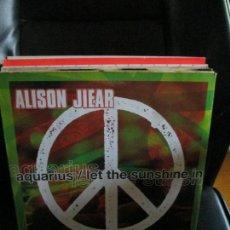 Discos de vinilo: ALISON JIEAR ?– AQUARIUS/ LET THE SUNSHINE IN. Lote 213786191
