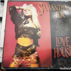 "Discos de vinilo: SAMANTHA FOX - LOVE HOUSE (12"") 1988. SELLO:JIVE CAT. Nº: SPTO-51030. Lote 213794286"