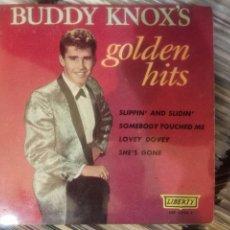 Discos de vinilo: EP BUDDY KNOX - BUDDY KNOX'S - GOLDEN HITS EP RARÍSIMO Y SÓLO EDITADO EN ESPAÑA. Lote 275496433