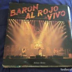 Discos de vinilo: BARON ROJO - BARON AL ROJO VIVO - 2 LPS - CHAPA DISCOS 1984,GATEFOLD. Lote 213801005