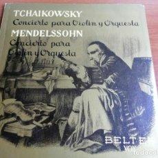 Discos de vinilo: LP CARPETA TCHAIKOWSKY MENDELSSOHN CONCIERTO VIOLIN Y ORQUESTA. Lote 213805098