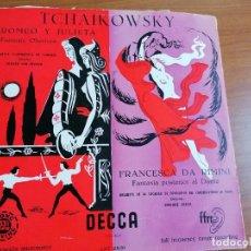 Discos de vinilo: LP TCHAIKOWSKY ROMEO Y JULIETA - FRANCESCA DA RIMINI LXT2531. Lote 213806107