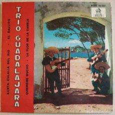 Discos de vinilo: TRIO GUADALAJARA ?– SANTA EULALIA DEL RIO / EL GALLITO / QUIEREME MUCHO / LA FLOR DE LA CANELA RARO. Lote 213807481
