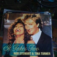 "Discos de vinilo: ROD STEWART & TINA TURNER 7"". Lote 213809661"