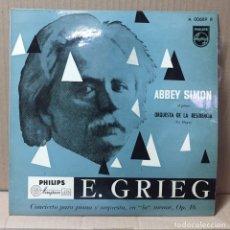 "Discos de vinilo: 10"" ABBEY SIMON - E. GRIEG - ORQUESTA DE LA RESIDENCIA - PHILIPS, ESPAÑA. Lote 213814060"