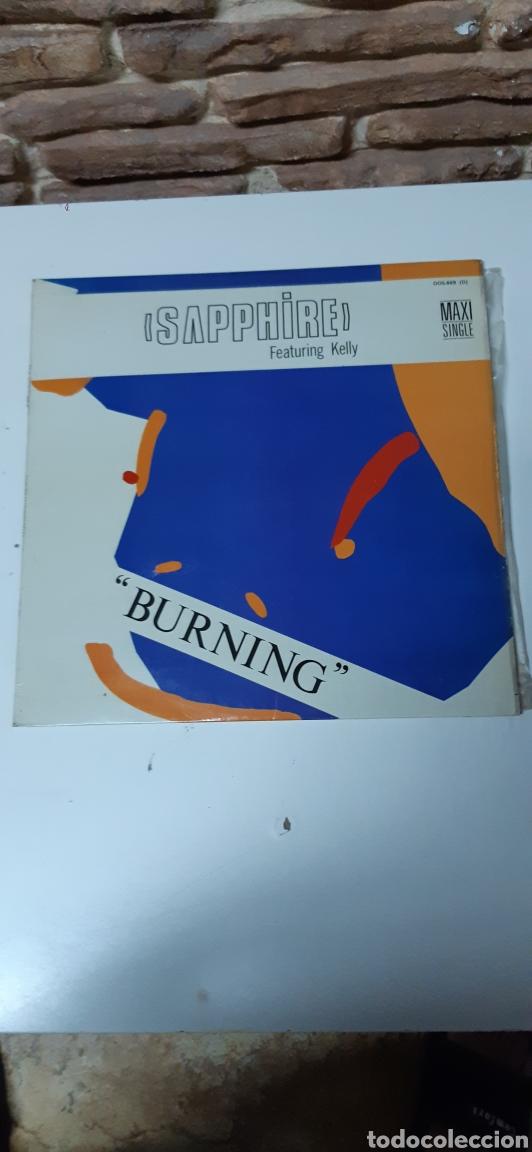 SAPPHIRE - FEATURING KELLY - BURNING (Música - Discos de Vinilo - Maxi Singles - Otros estilos)