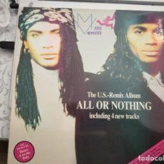 Discos de vinilo: MILLI VANILLI - ALL OR NOTHING - THE U.S. REMIX ALBUM (LP, GAT) 1989.HANSA, BMG 209 979. Lote 213820392
