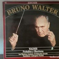 Discos de vinilo: DOBLE LP WAGNER PRELUDIOS Y OBERTURAS BRUNO WALTER. Lote 213820948