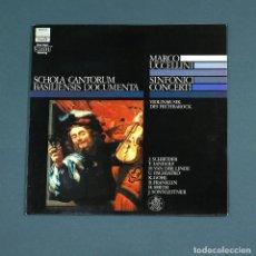 Discos de vinilo: VINILO LP CON OBRAS DE MARCO UCCELLINI: SINFONICI CONCERTI. VIOLINMUSIK DES FRÜHBAROCK. EMI, 1985.. Lote 213822543