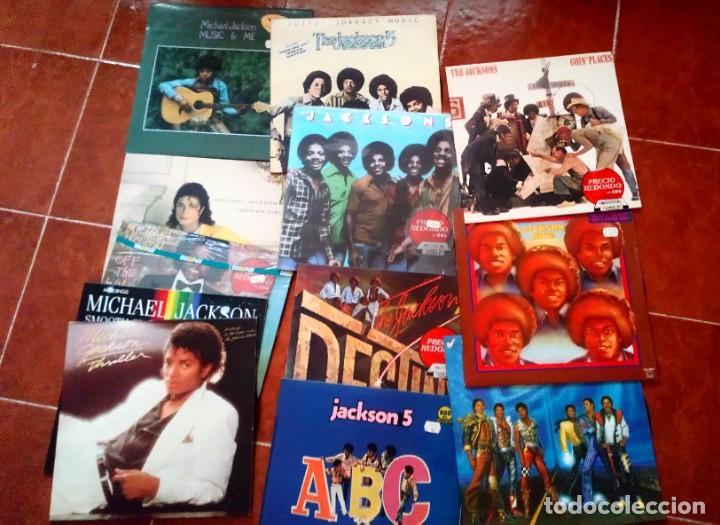 LOTE DISCOS VINILO MICHAEL JACKSON Y JACKSON FIVE (Música - Discos - LP Vinilo - Pop - Rock - Extranjero de los 70)