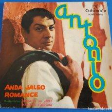 Discos de vinilo: SINGLE / ANTONIO / ANDA JALEO - ROMANCE / COLUMBIA 1962. Lote 213827501