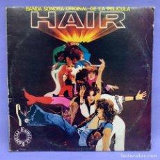 Discos de vinilo: LP BANDA SONORA ORIGINAL DE LA PELÍCULA HAIR MADRID 1979 -- VG. Lote 213852978