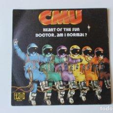 Discos de vinilo: CMU, SINGLE, HEART OF THE SUN / DOCTOR, AM I NORMAL? BELTER, 1973. Lote 213860251