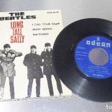 Discos de vinilo: THE BEATLES --LONG TALL SALLY -+3 ----LABEL AZUL FUERTE--- VINILO VG+++ FUNDA ( NM OR M- ). Lote 195492596